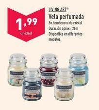Oferta de Vela perfumada Living Art por 1,99€
