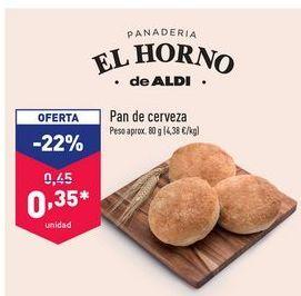 Oferta de Pan de cerveza panadería EL HORNO DE ALDI por 0,35€