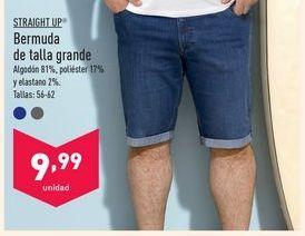 Oferta de Bermuda de talla grande Straight Up por 9,99€