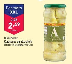 Oferta de Corazones de alcachofa El Cultivador por 2,49€
