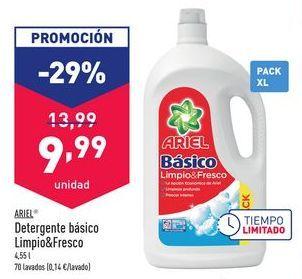 Oferta de Detergente básico Limpio&Fresco  Ariel por 9,99€