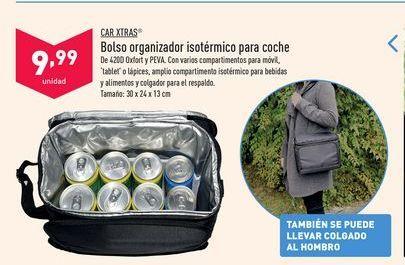 Oferta de Bolso organizador isotérmico para coche Car Xtras por 9,99€