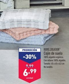 Oferta de Cojín de suelo Home Creation por 6,99€