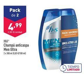 Oferta de Champú Anticaspa Men Ultra h&s por 4,99€