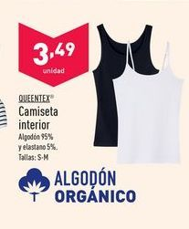 Oferta de Camiseta interior Queentex por 3,49€