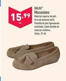 Oferta de Mocasines Walkx por 15,99€