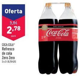 Oferta de Refresco de cola Zero Zero Coca-Cola por 2,78€