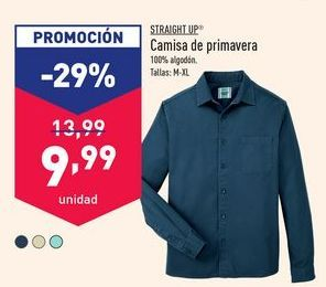 Oferta de Camisa de primavera Straight Up por 9,99€