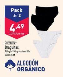 Oferta de Braguitas Queentex por 4,49€