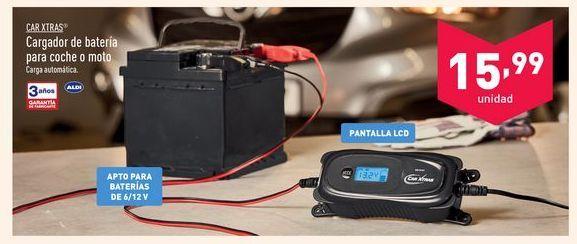 Oferta de Cargador de batería para coche o moto Car Xtras por 15,99€