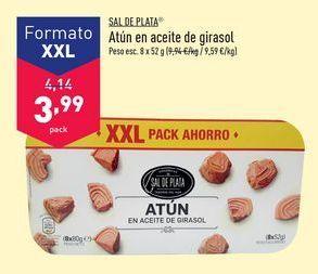 Oferta de Atún en aceite de girasol Sal de Plata  por 3,99€