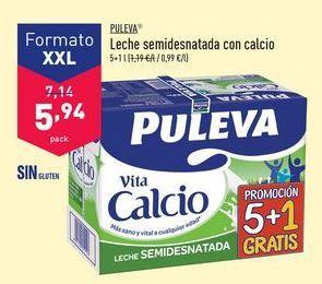 Oferta de Leche semidesnatada con calcio Puleva por 5,94€