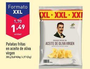 Oferta de Patatas fritas en aceite de oliva virgen por 1,49€