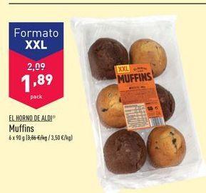 Oferta de Muffins El horno de Aldi por 1,89€