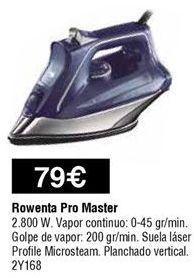 Oferta de Plancha Rowenta por 79€