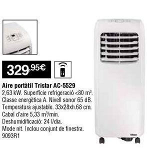 Oferta de Aire acondicionado portátil Tristar por 329,95€