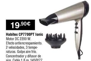 Oferta de Secador Habitex por 19,9€