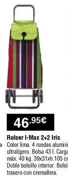 Oferta de Carro de compra Rolser por 46,95€