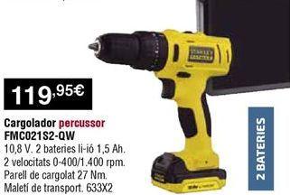 Oferta de Atornillador Stanley por 119,95€