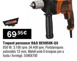 Oferta de Taladro percutor Black & Decker por 69,95€