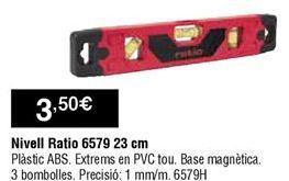 Oferta de Nivel Ratio por 3,5€