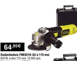 Oferta de Amoladora Stanley por 64,95€
