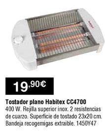 Oferta de Tostadora Habitex por 19,9€