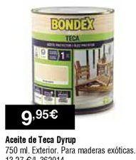 Oferta de Aceite de teca dyrup por 9,95€