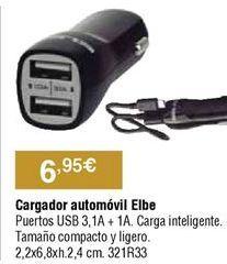 Oferta de Cargador de coche por 6,95€