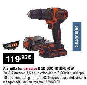 Oferta de Atornillador a batería Black & Decker por 119,95€