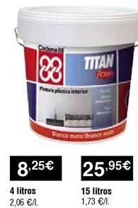 Oferta de Pintura plástica por 8,25€
