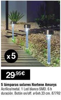 Oferta de Lámpara solar por 29,95€