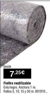 Oferta de Fieltro absorbente por 7,25€