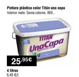 Oferta de Pintura plástica Titan por 25,95€