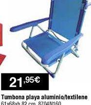 Oferta de Tumbona de playa por 21,95€