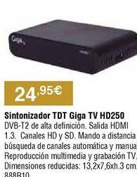 Oferta de Sintonizador tdt por 24,95€