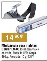 Oferta de Báscula para maletas Beurer por 14,9€