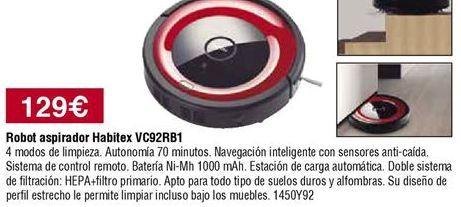 Oferta de Robot aspirador Habitex por 129€