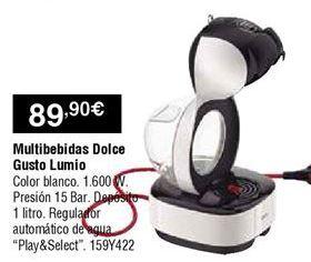 Oferta de Cafetera de cápsulas Dolce Gusto por 89,9€