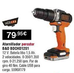 Oferta de Atornillador a batería Black & Decker por 79,95€
