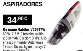 Oferta de Aspirador de mano Habitex por 34,9€