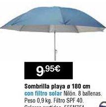 Oferta de Sombrilla de playa por 9,95€