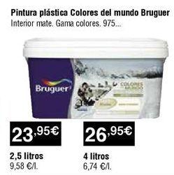 Oferta de Pintura plástica Bruguer por 23,95€