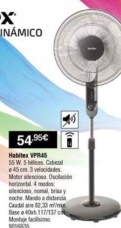 Oferta de Ventilador de pie Habitex por 54,95€