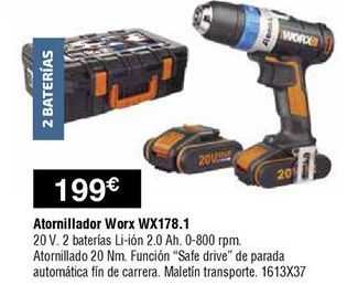 Oferta de Atornillador worx por 199€