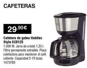Oferta de Cafetera de goteo Habitex por 29,9€