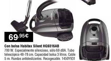 Oferta de Aspirador con bolsa Habitex por 69,95€