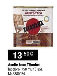 Oferta de Aceite de teca Titan por 13,5€