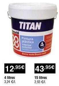 Oferta de Pintura plástica por 12,95€