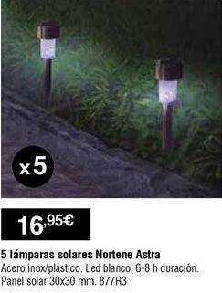 Oferta de Lámpara solar por 16,95€